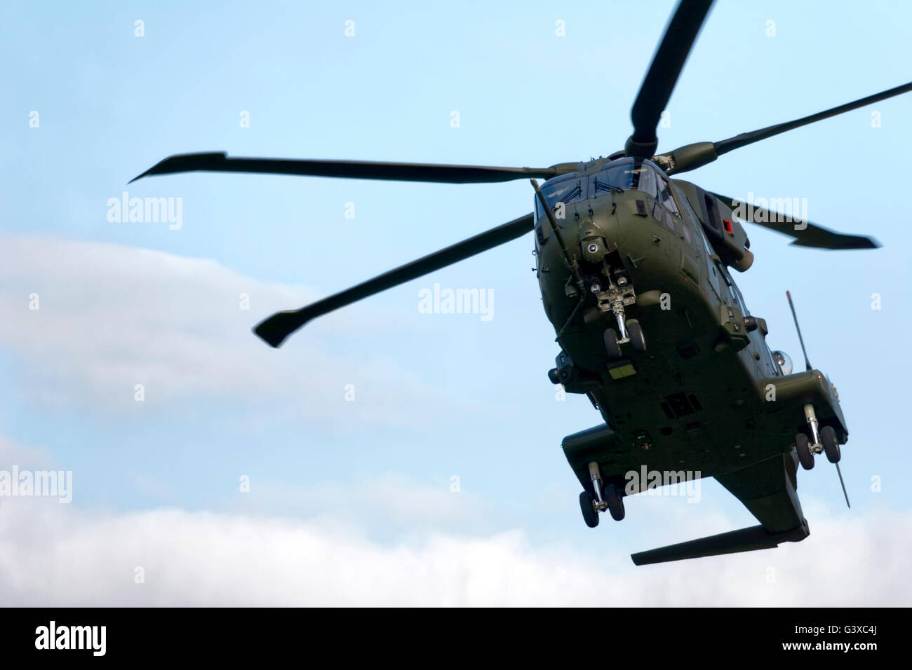 A Royal Air Force Merlin HC.3 Helicopter at the Yeovilton International Air Day 2005. - Stock Image
