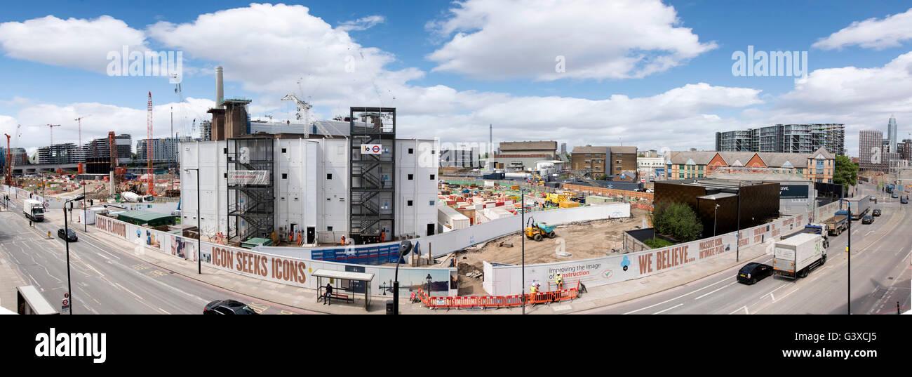 Battersea Power Station Development Panorama - Stock Image