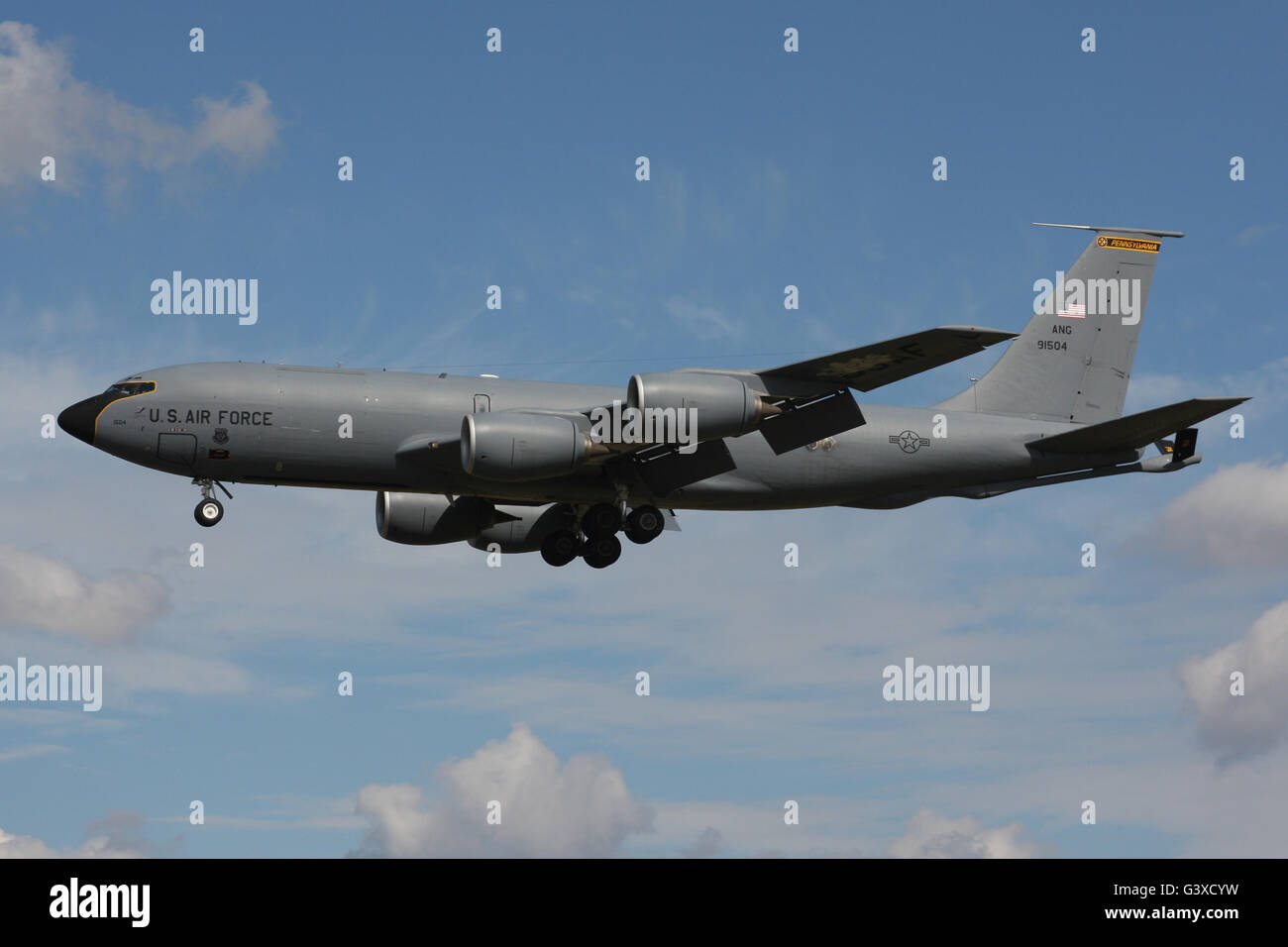 US AIR FORCE BOEING KC135 TANKER - Stock Image