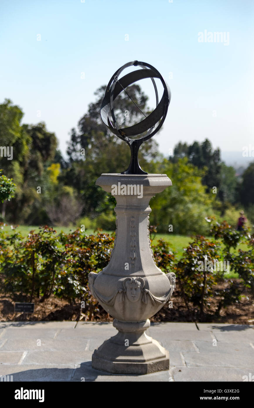 Statue at the Huntington library and Botanical Gardens - Stock Image
