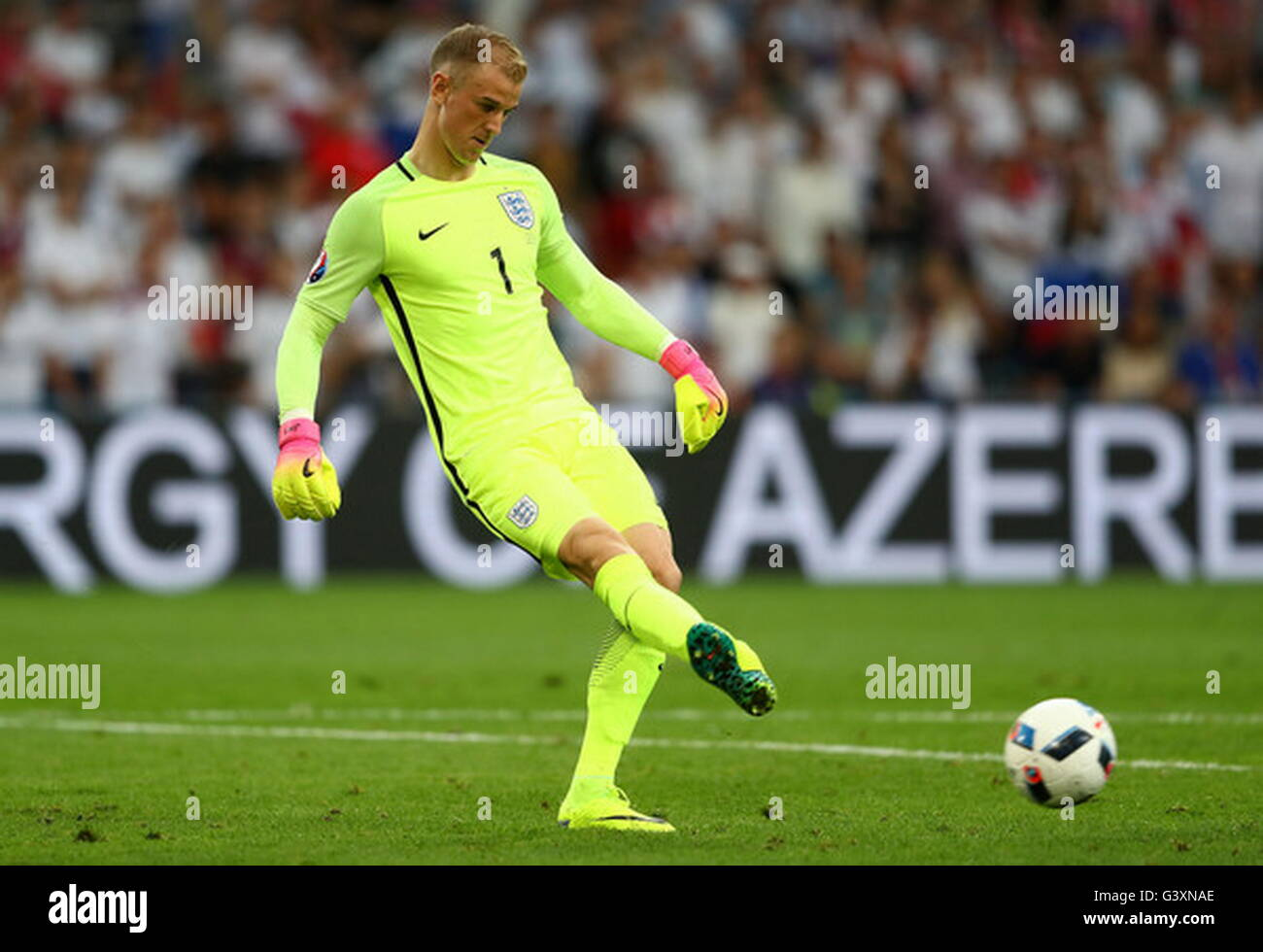 Marseille, France, June 11, 2016: Joe Hart  during the match of the Euro Group B, England - Russia stade velodrome - Stock Image