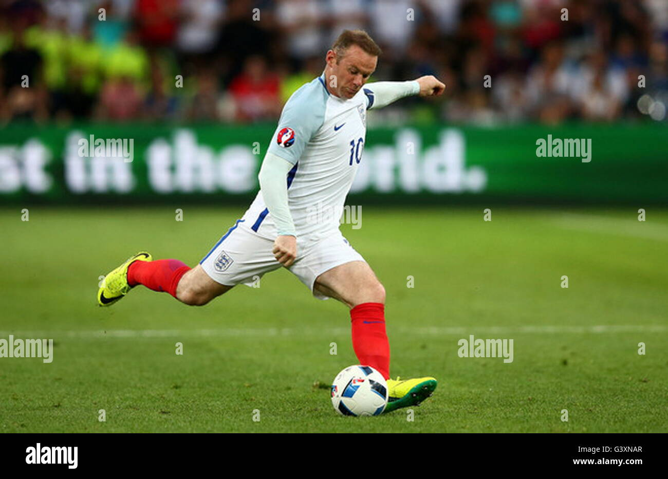 Marseille, France, June 11, 2016: Wayne Rooney during the match of the Euro Group B, England - Russia stade velodrome - Stock Image