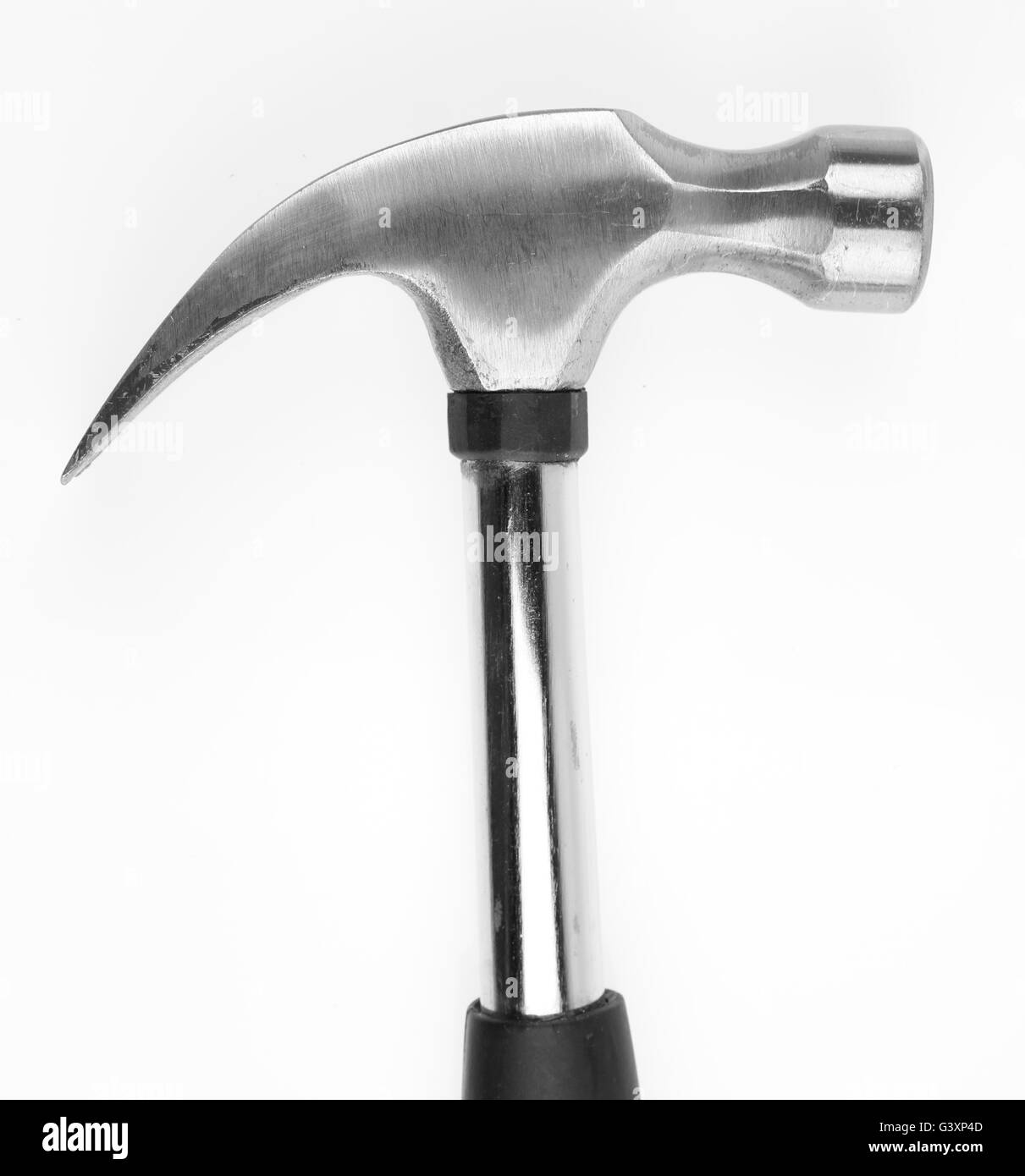 Claw hammer on plain background - Stock Image