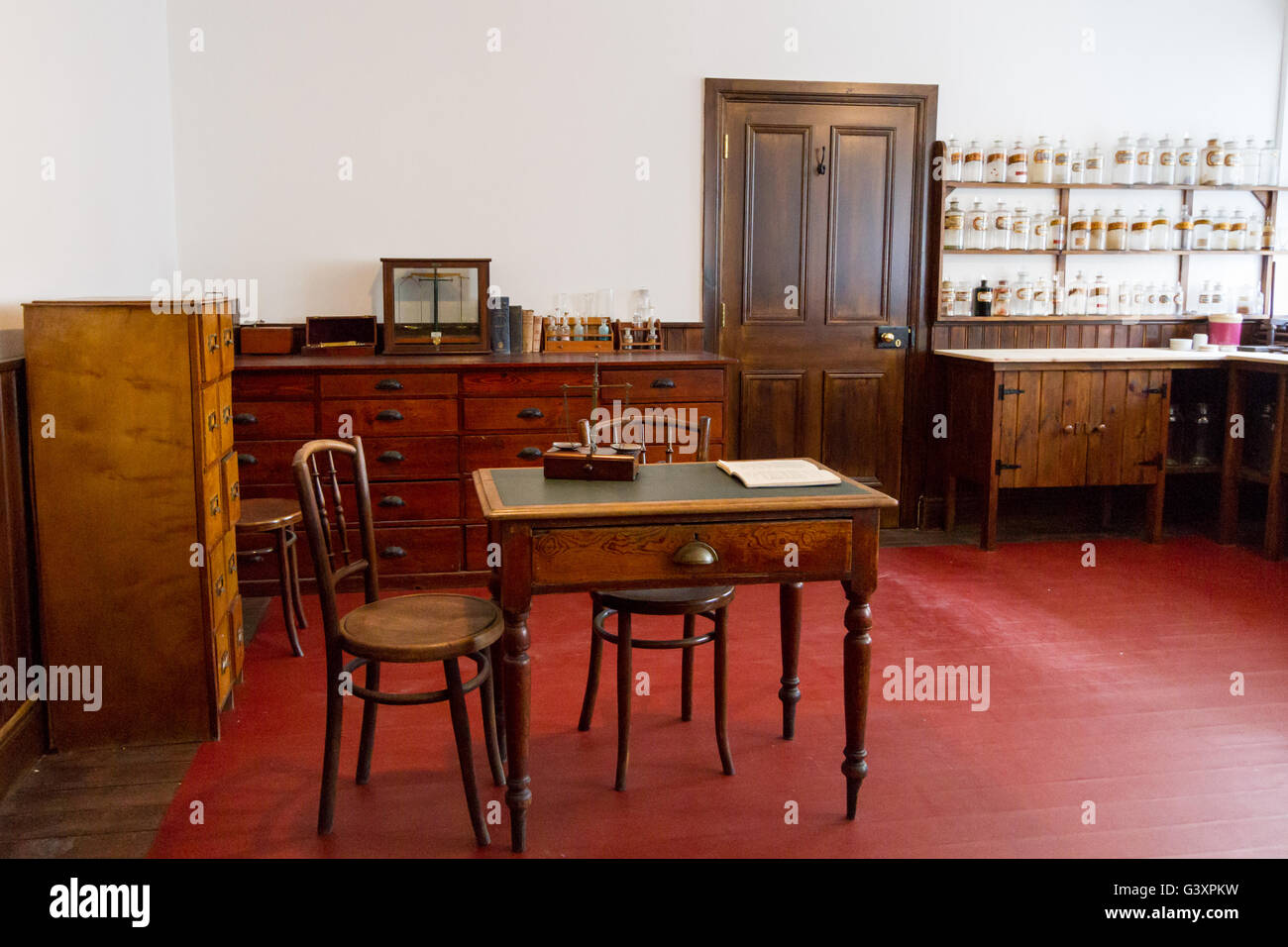 Old pharmacy in Northern Ireland Stock Photo