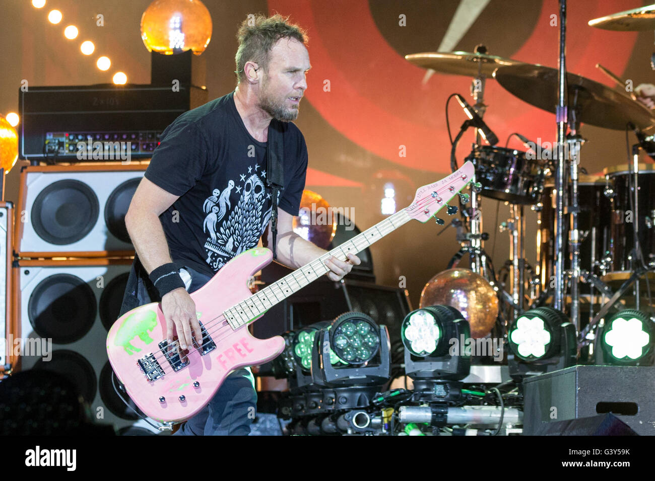 Manchester, Tennessee, USA  11th June, 2016  Bassist JEFF AMENT of