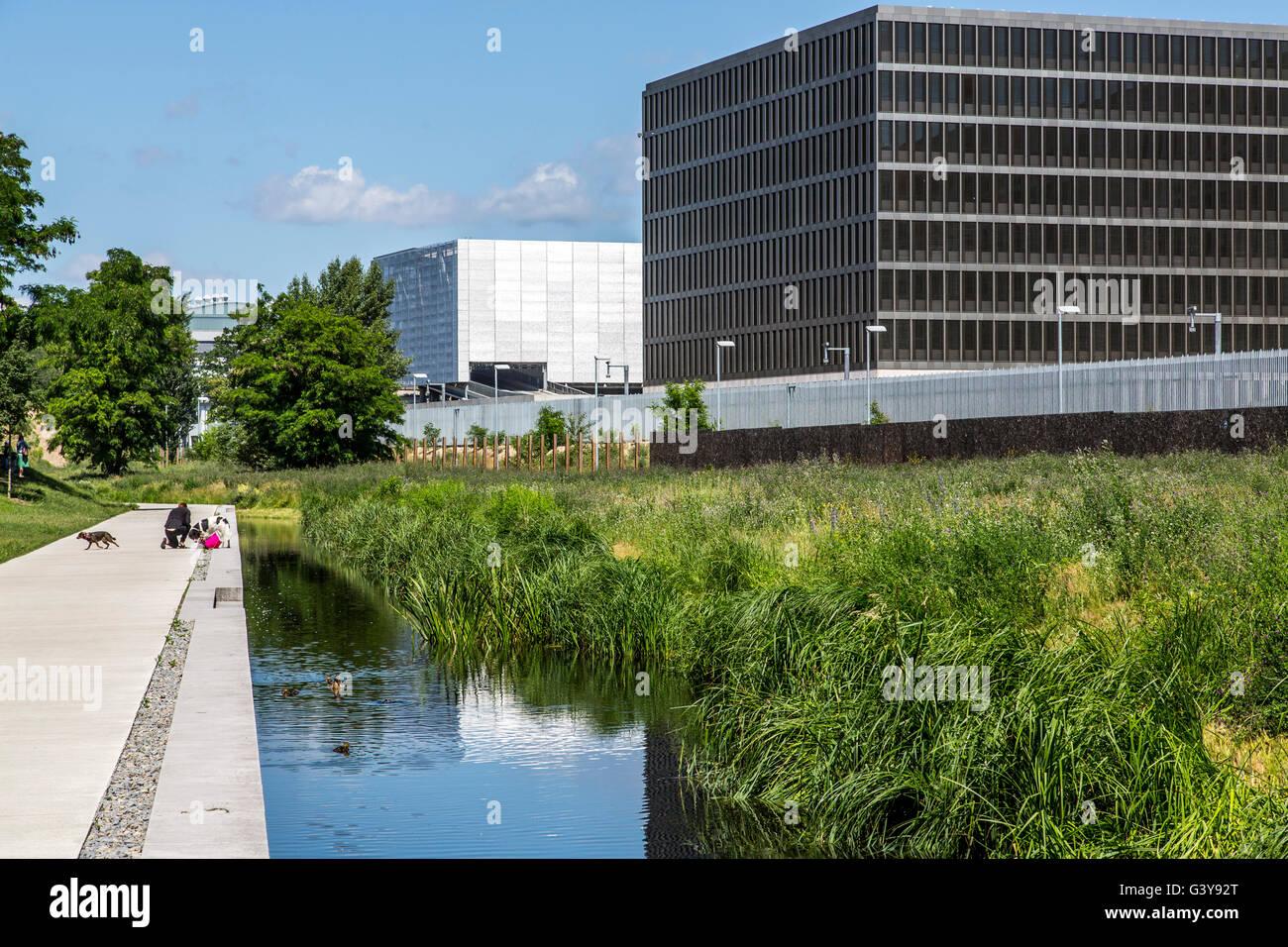 The new headquarter of German foreign secret service, Bundesnachrichtendienst, Berlin, Germany - Stock Image