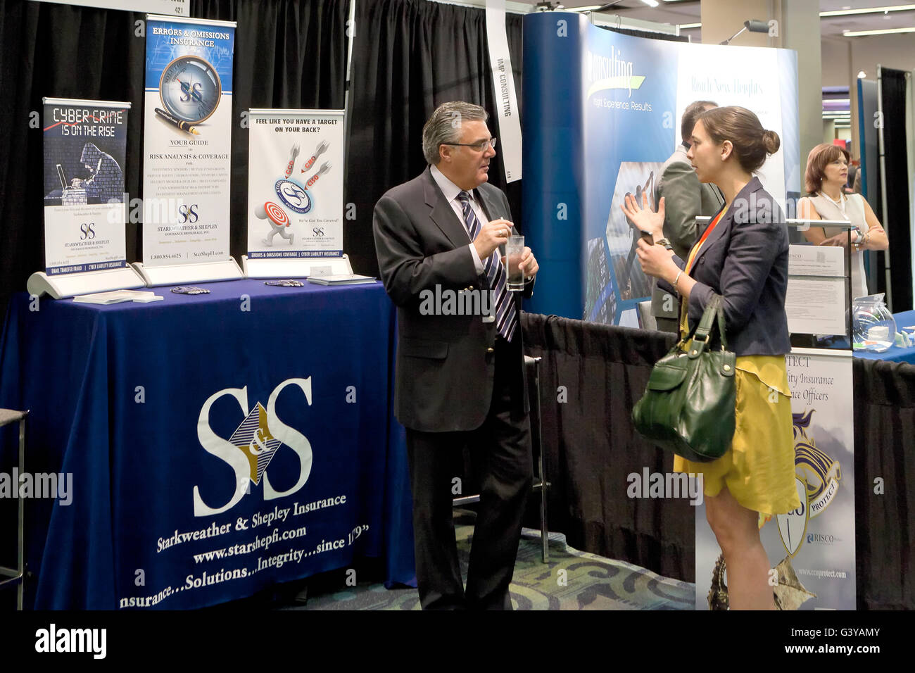 Starkweather & Shepley Insurance Brokerage In. booth at a business expo - USA - Stock Image