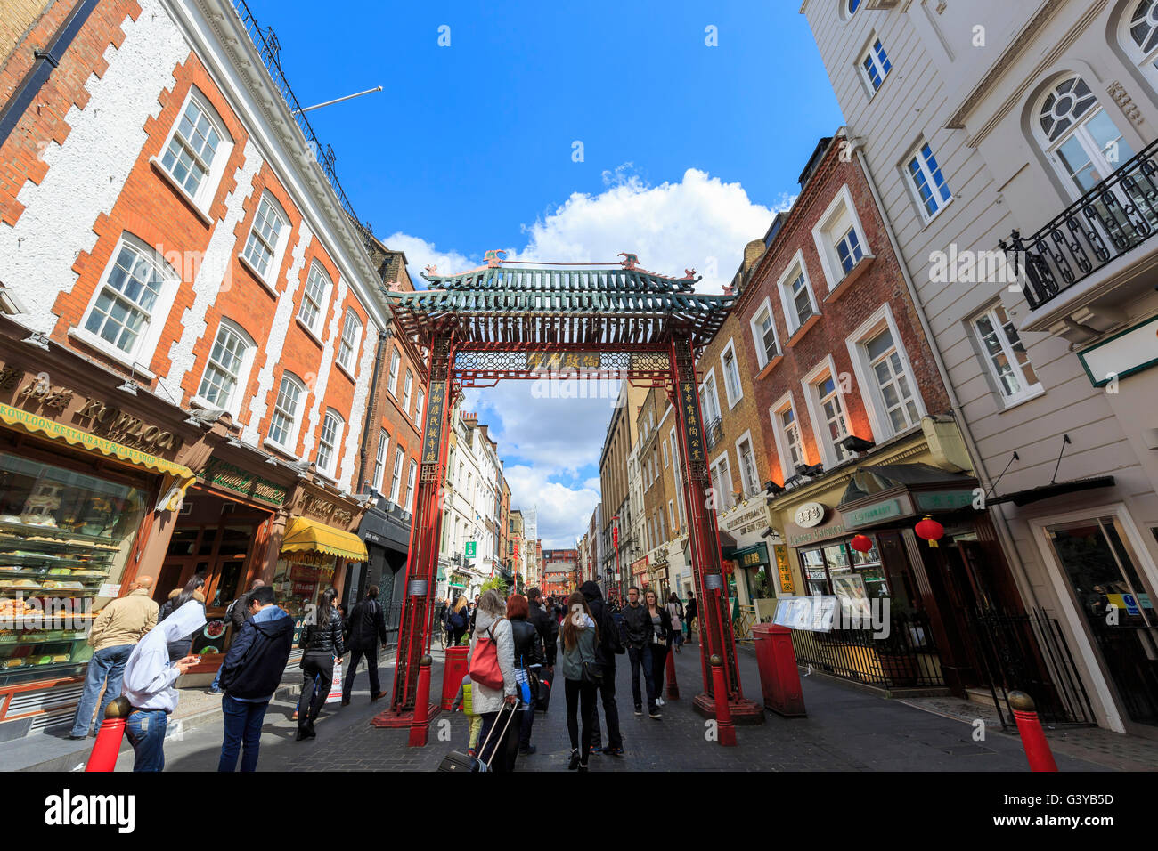 London, APR 17: The famous China Town on APR 17, 2016 at London Stock Photo