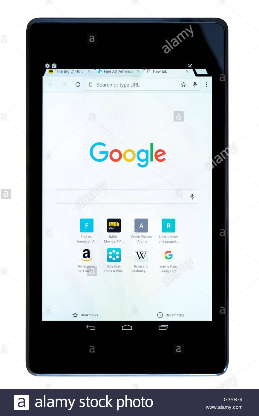 Pleasing Google Search Shown On A Tablet Computer Dorset England Beutiful Home Inspiration Semekurdistantinfo