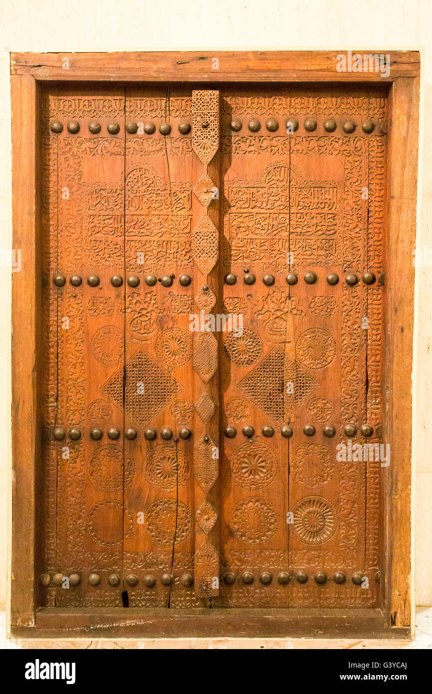 traditional carved wooden door Bahrain National Museum Manama Bahrain & traditional carved wooden door Bahrain National Museum Manama ...