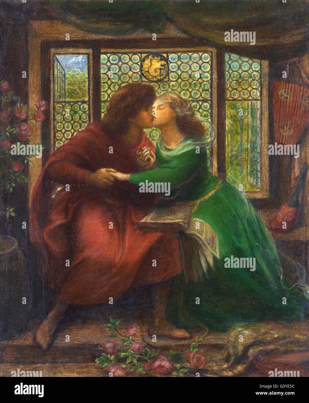 Dante Gabriel Rossetti - Paolo and Francesca da Rimini - Stock Image
