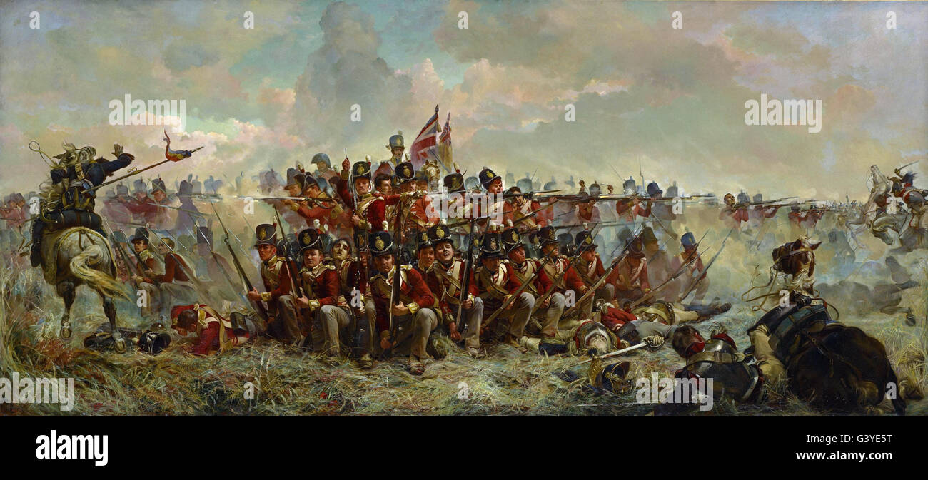 Elizabeth Thompson - The 28th Regiment at Quatre Bras - Stock Image