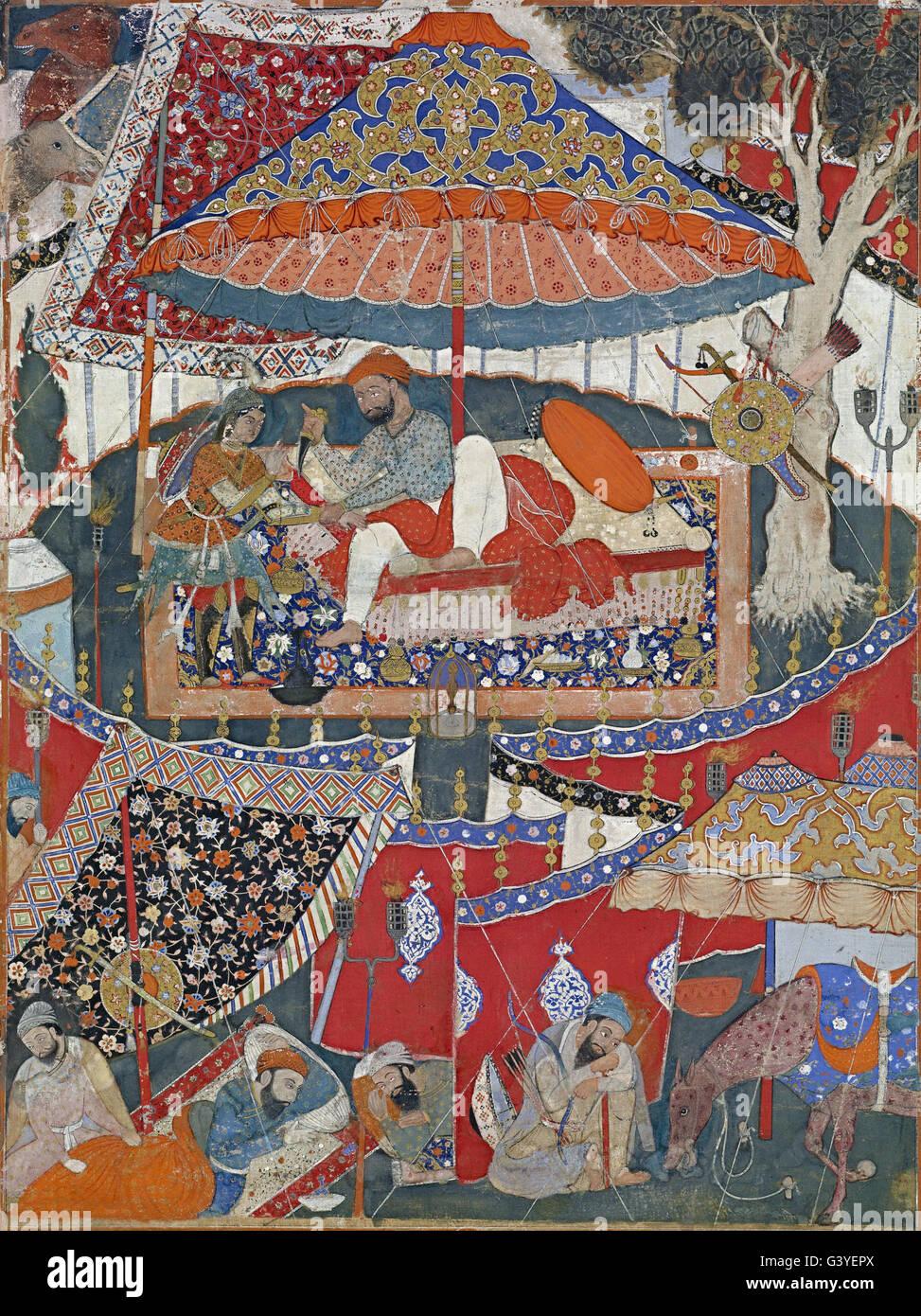 Mughal - A page of the Dastan-i Amir Hamza (Hamzanama) Stock Photo
