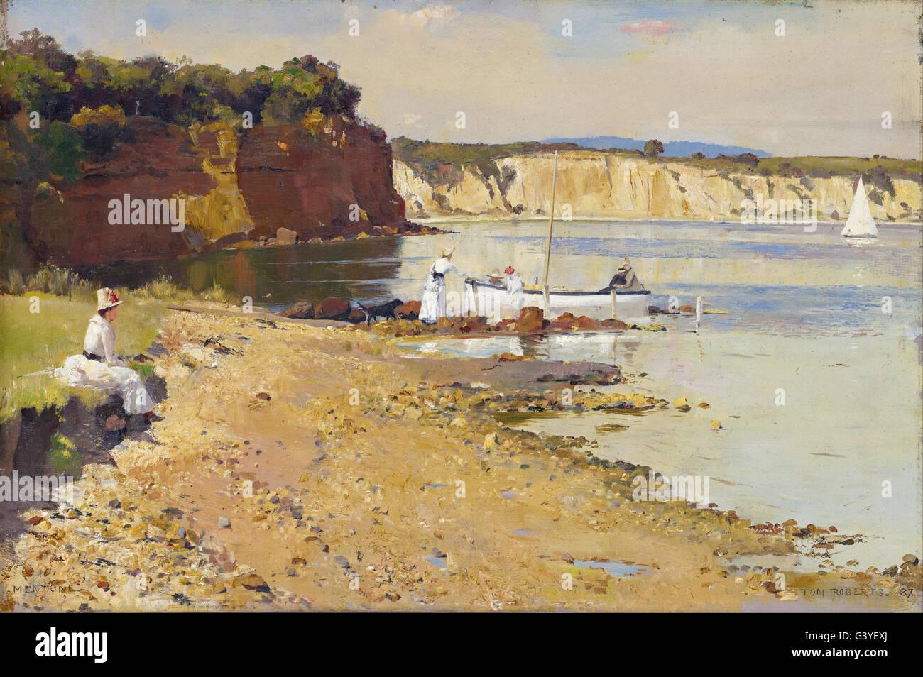 Tom Roberts - Slumbering sea, Mentone - Stock Image