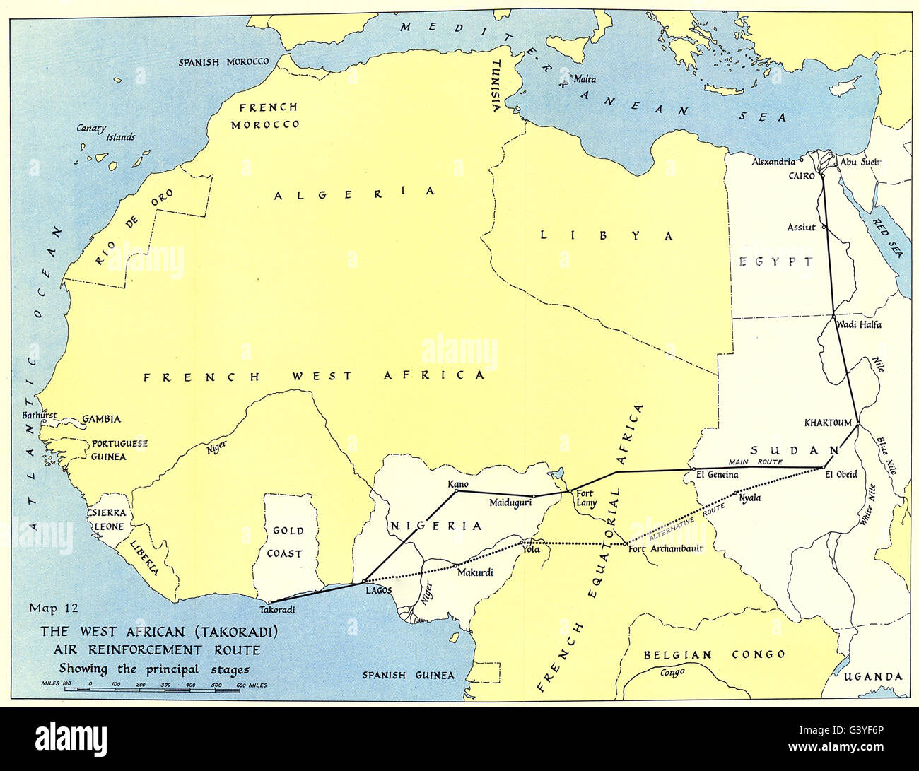 World war 2 west africa middle east takoradi air reinforcement world war 2 west africa middle east takoradi air reinforcement route 1954 map gumiabroncs Image collections