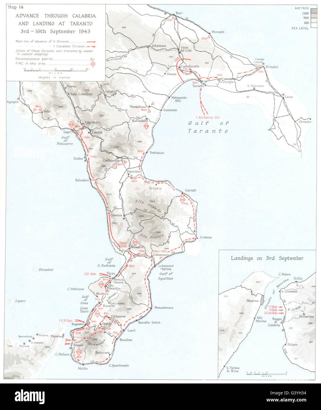 ITALY Invasion of Calabria Sep 1943 Advance Landing at Taranto