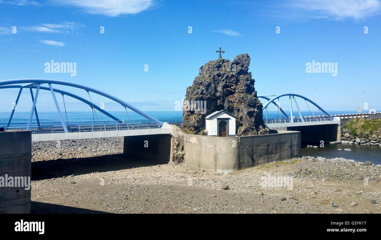 chapel at sao vincente on madeira island near the coastline of the atlantic ocean Stock Photo