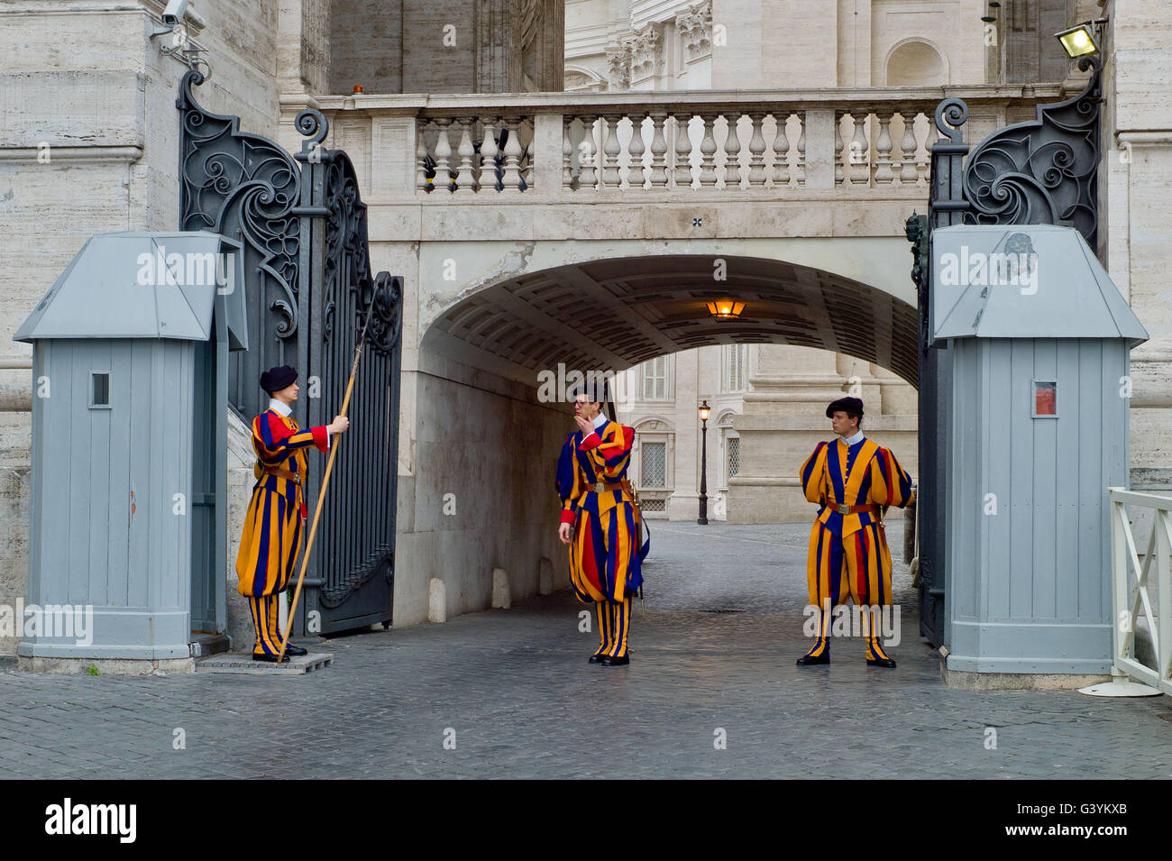 Changing the guards at the Vatican May 2016 - Stock Image
