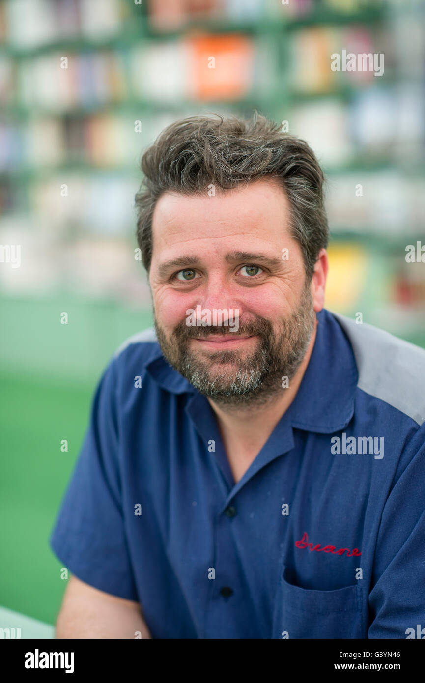 Children's author PHIL EARLE  at the Hay Festival, Thursday 26 May 2016 - Stock Image