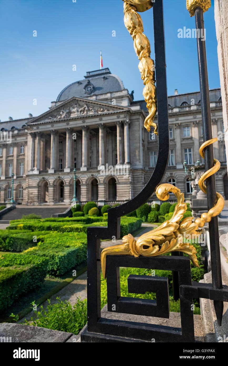 Palais Royal Upper Town Quartier Royal Brussels Belgium - Stock Image