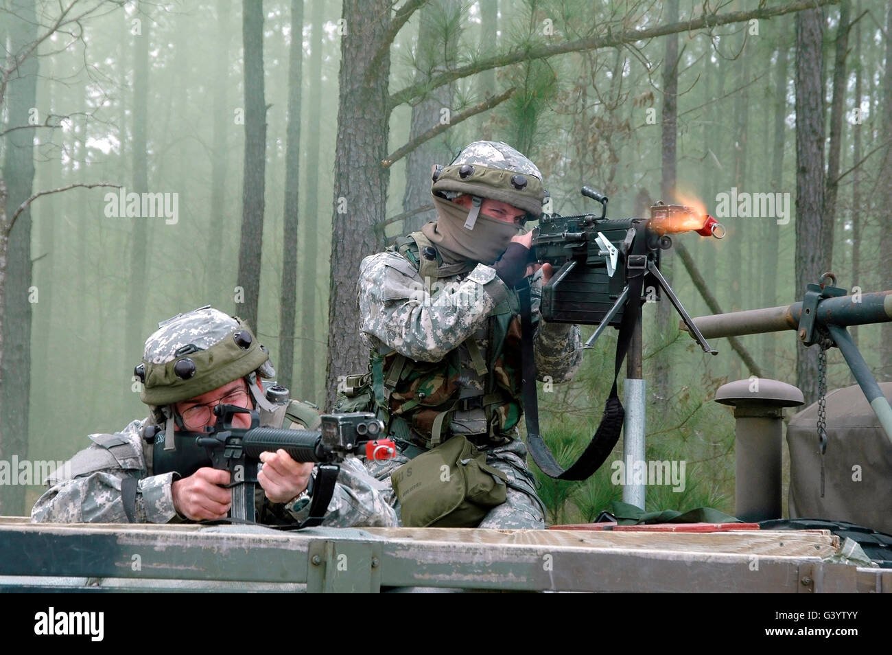 Naval Reservists and Active Duty members under attack. - Stock Image