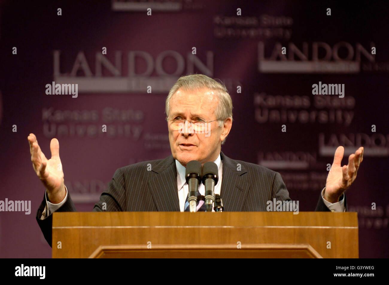 Secretary of Defense Donald H. Rumsfeld - Stock Image