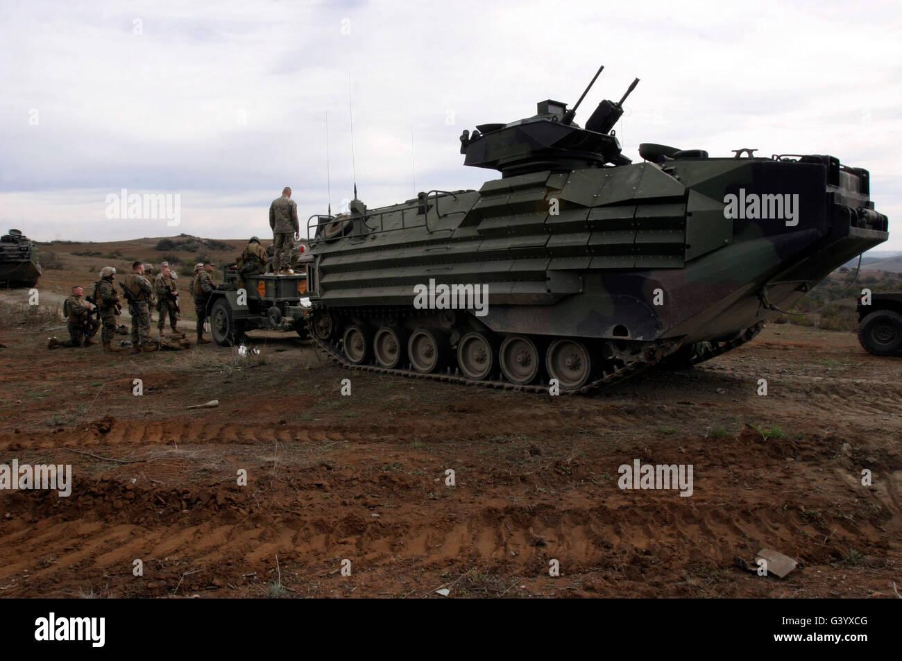 An Amphibious Assault Vehicle. Stock Photo