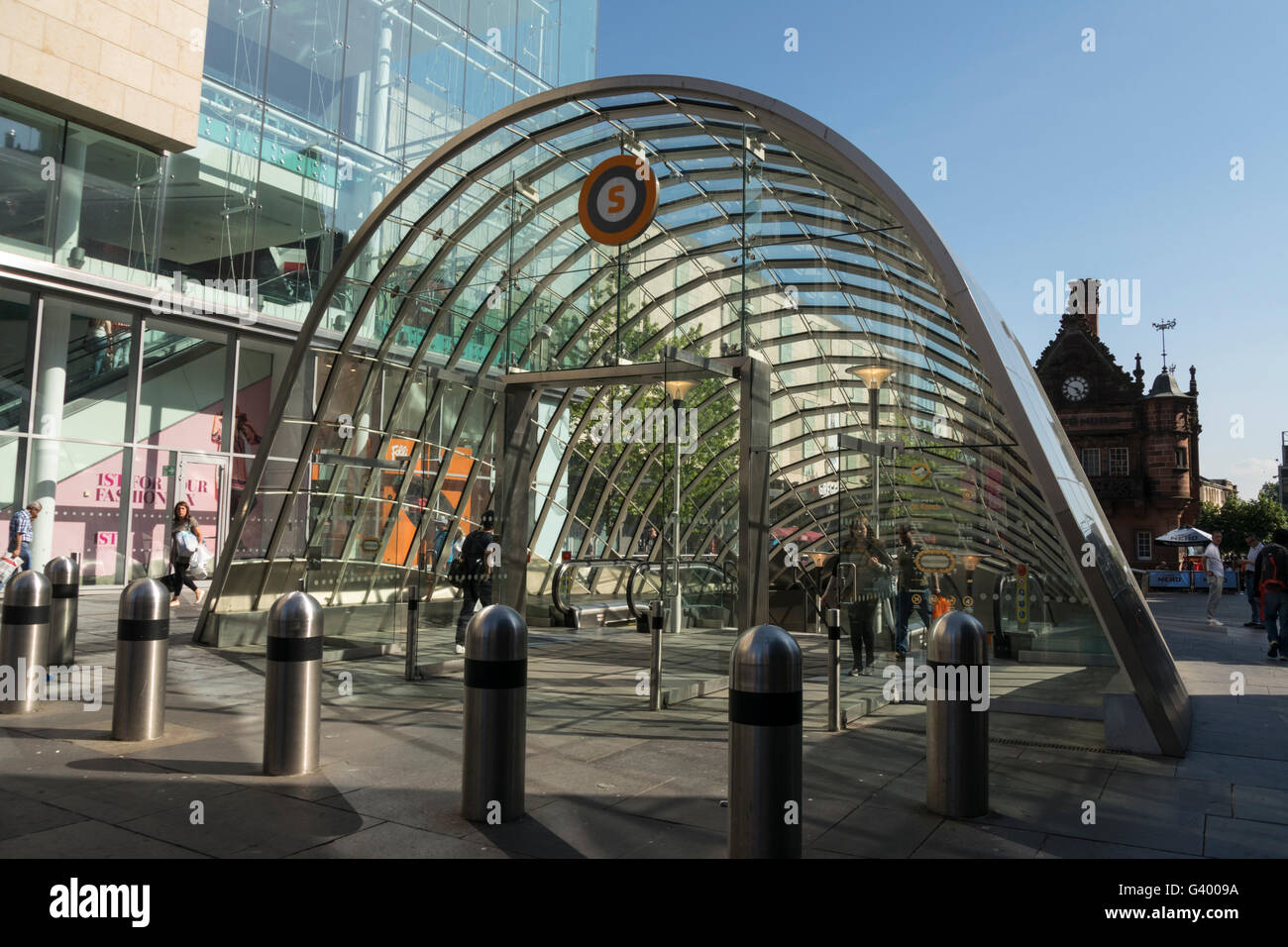 Subway entrance, St Enoch Square,Glasgow,Scotland, UK, - Stock Image
