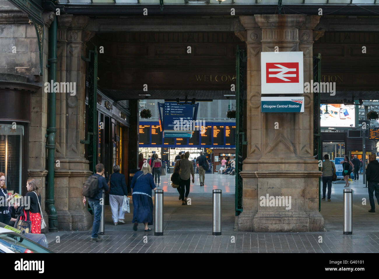 Main entrance to Central Station,Glasgow,Scotland,UK, Stock Photo