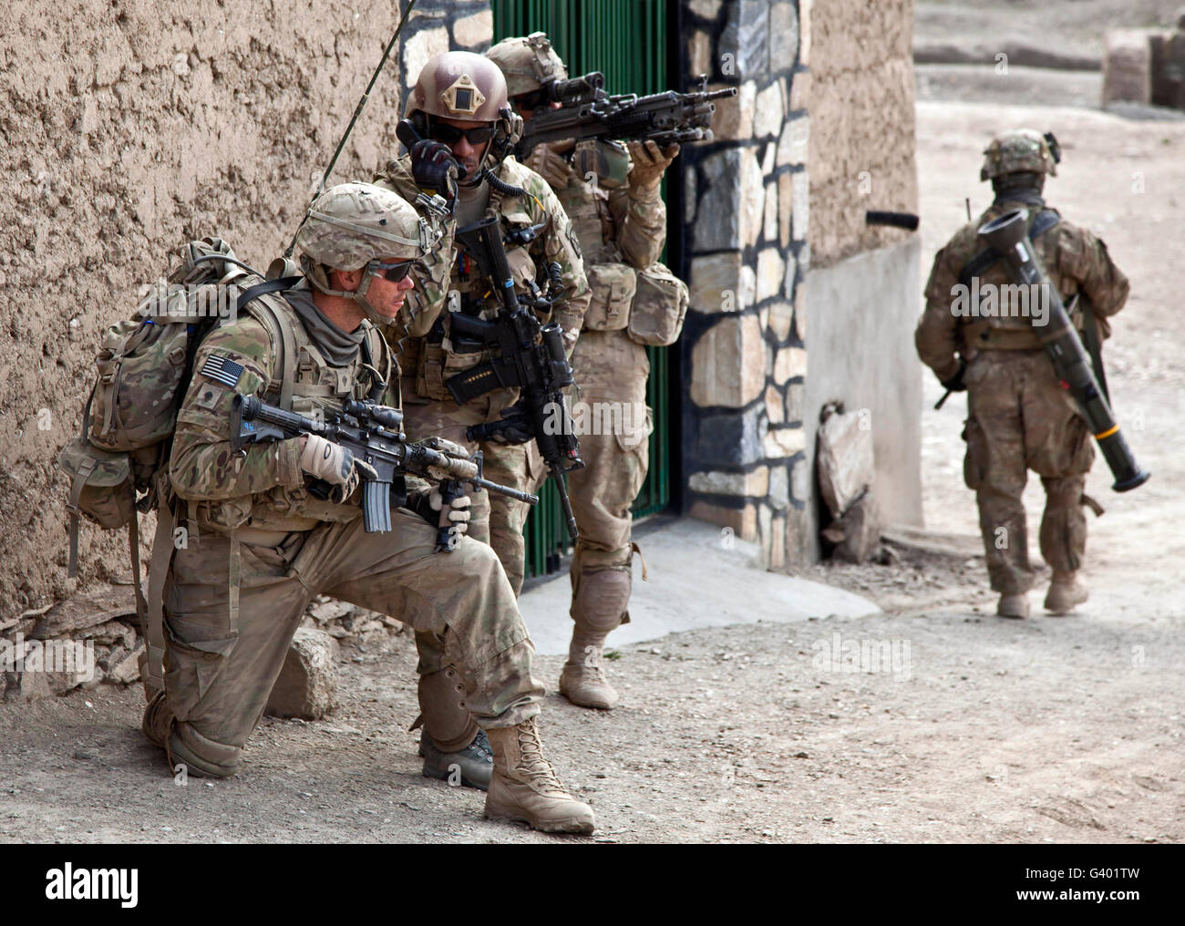 U.S. Army battalion pulls security in Afghanistan. - Stock Image