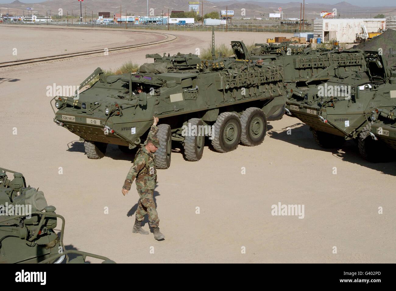 M1127 Stryker Reconnaissance Vehicles. - Stock Image