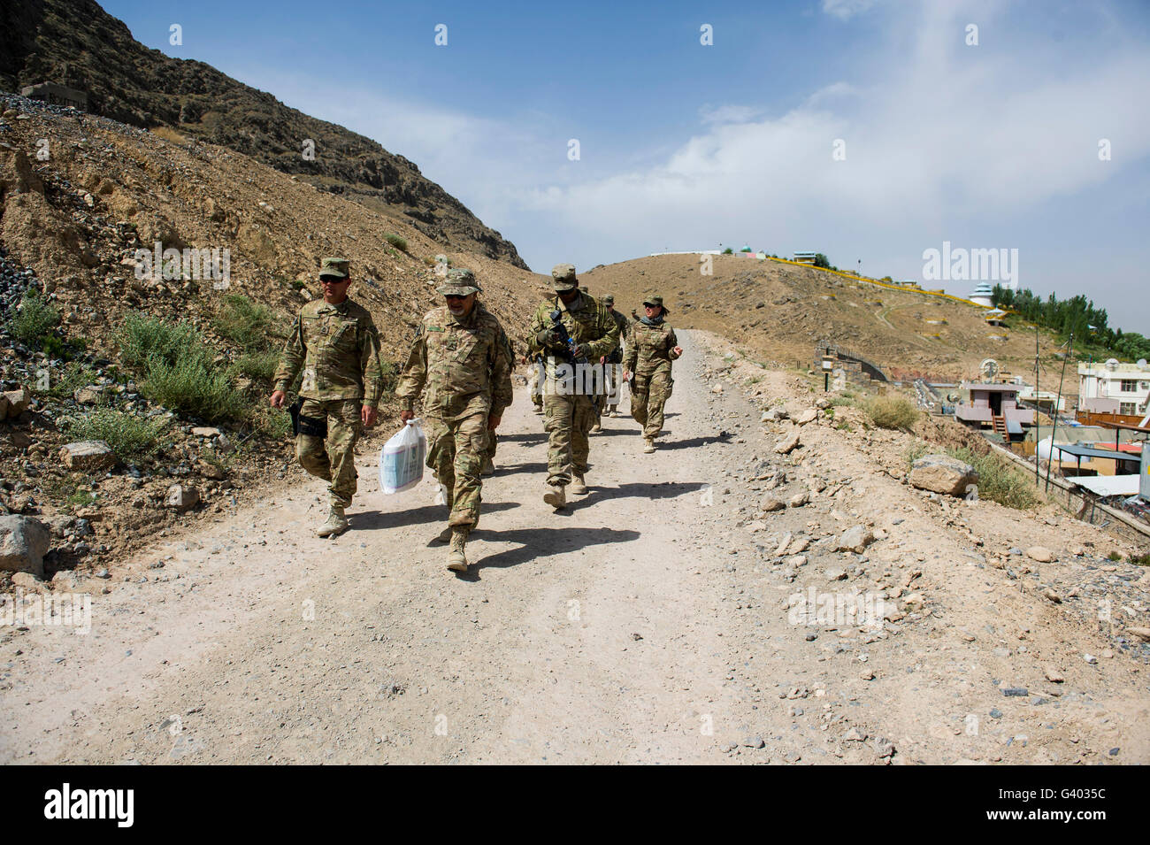 Members of the Kentucky National Guard in Arghandab, Afghanistan. - Stock Image