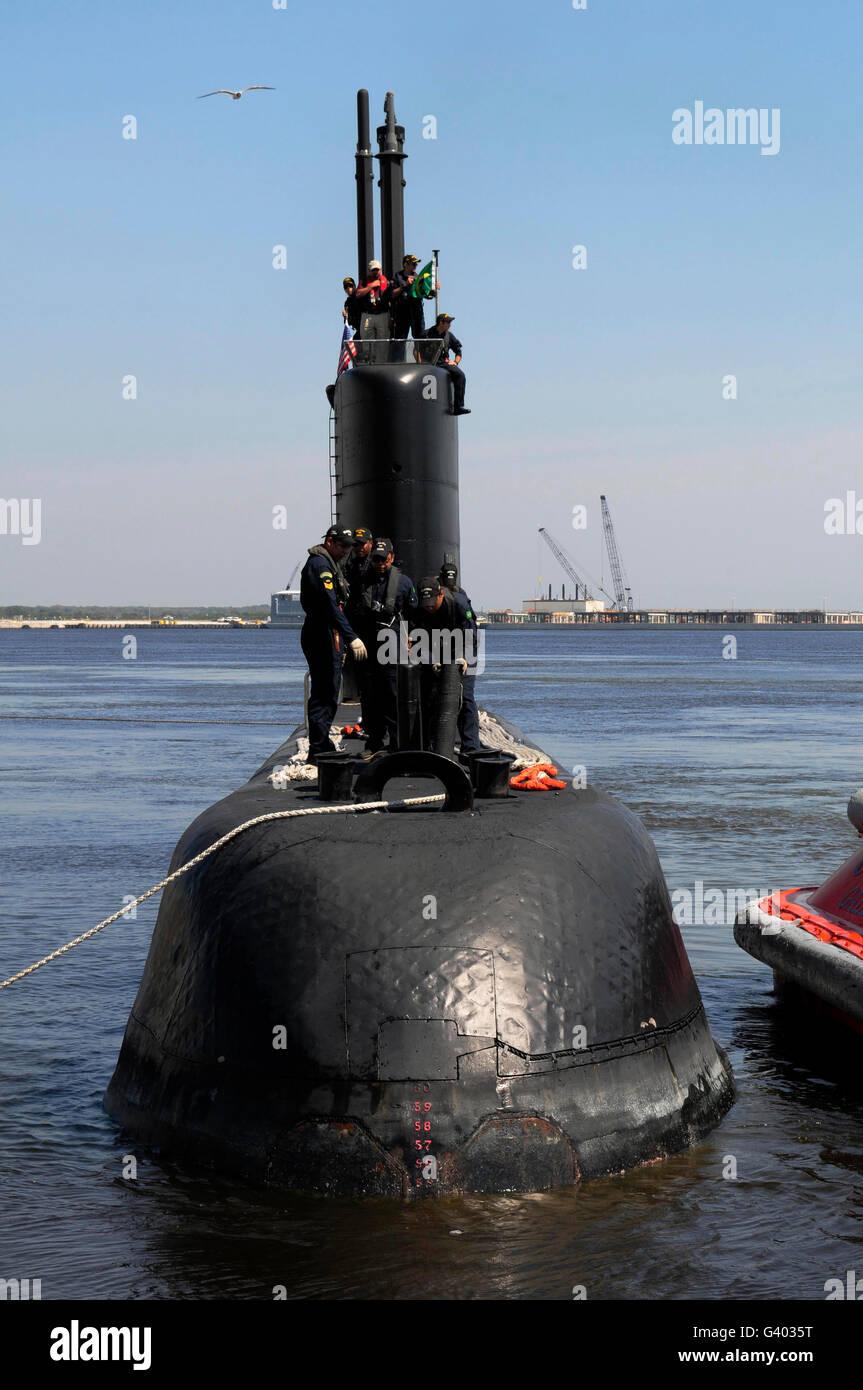 The Brazilian Navy submarine BNS Tapajo. - Stock Image