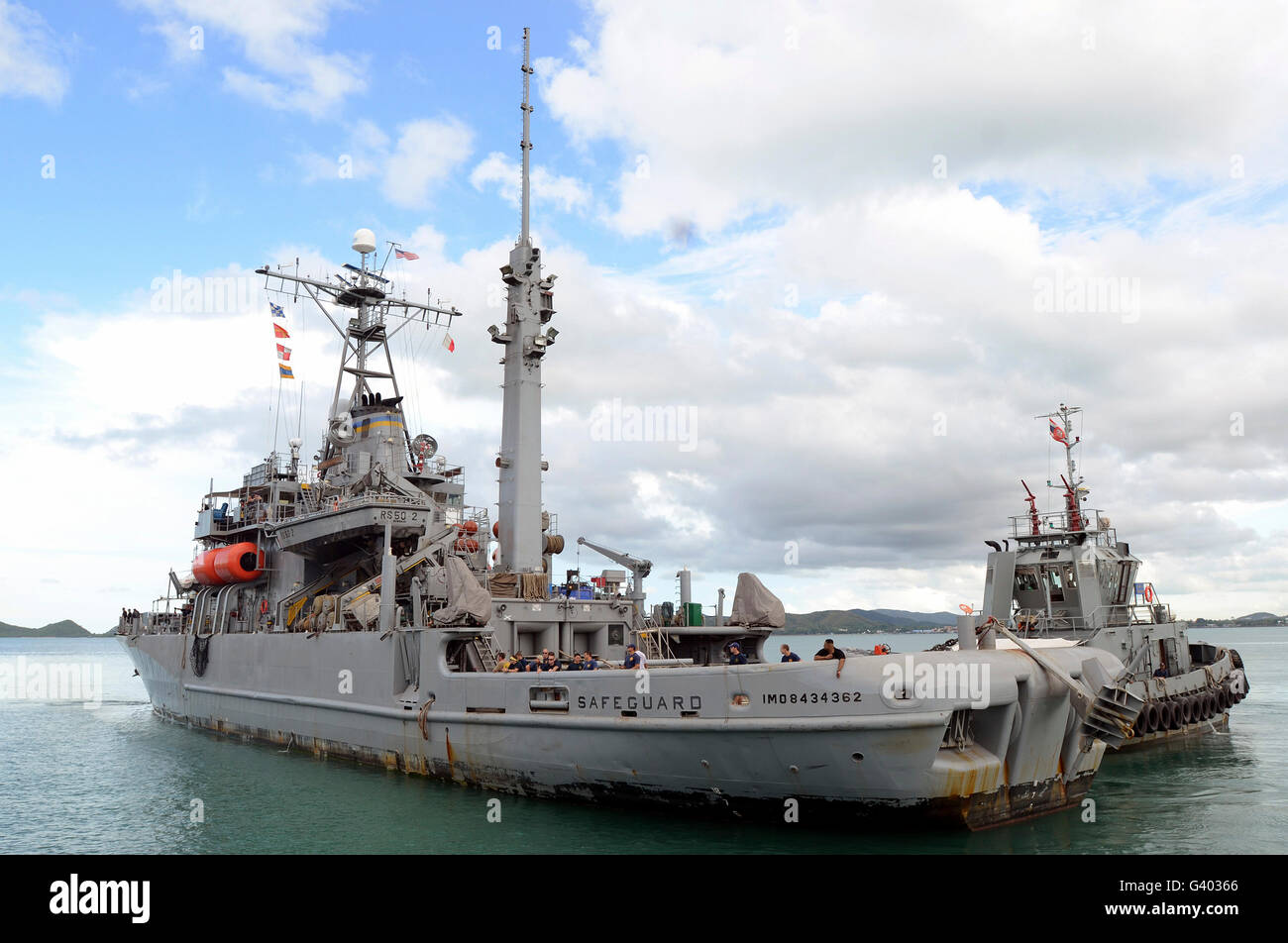 Military Sealift Command rescue and salvage ship USNS Safeguard. - Stock Image