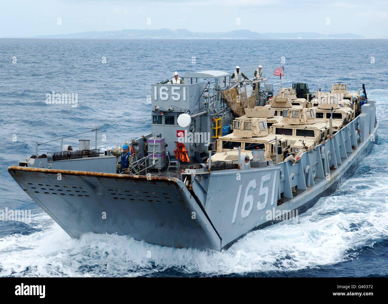A landing craft utility ship. - Stock Image