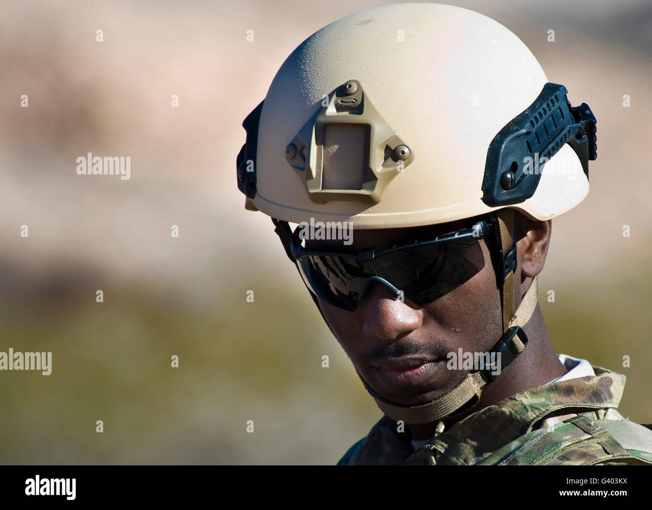 U.S. Air Force explosive ordnance disposal technician. - Stock Image