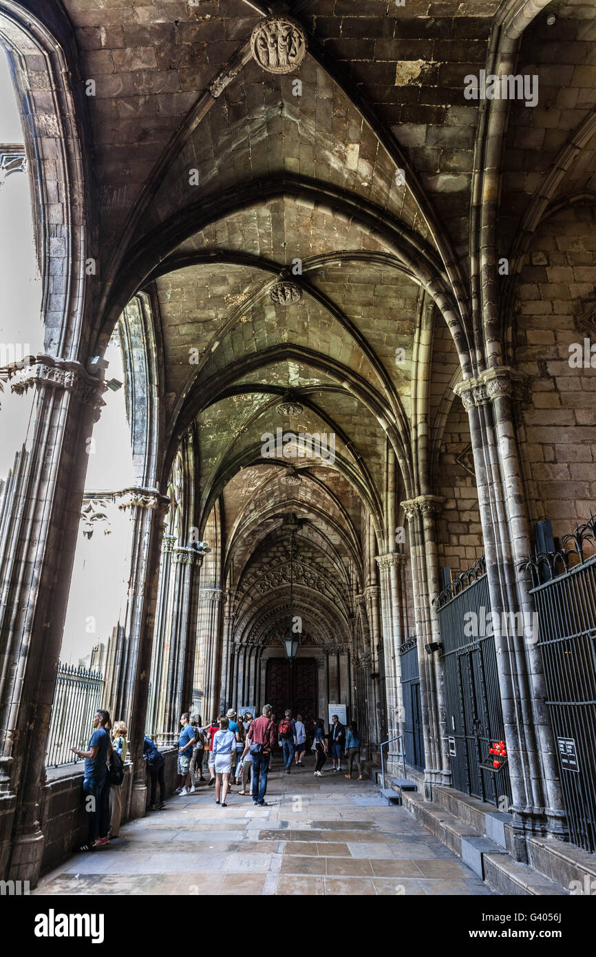 Arches And Ceiling In The Atrium Of Barcelona Cathedral La Catedral