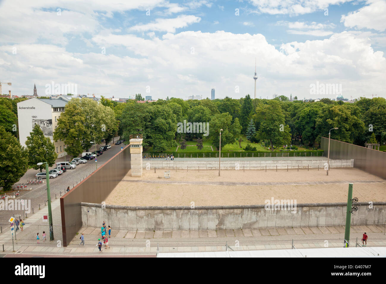A Berlin wall memorial - Stock Image