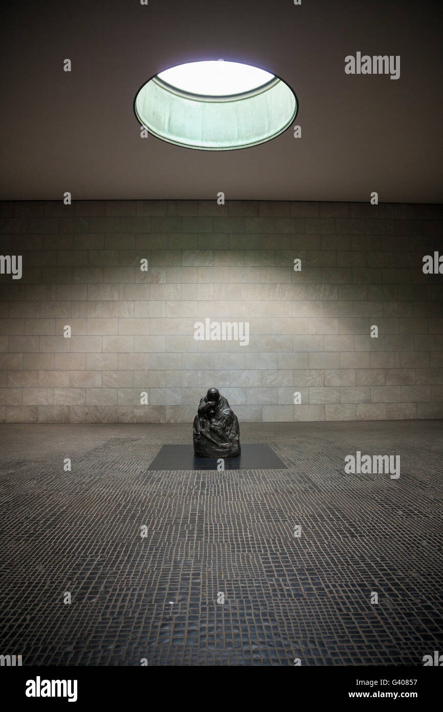 Memorial of the Federal Republic of Germany for war victims by kathe kollwitz - Stock Image