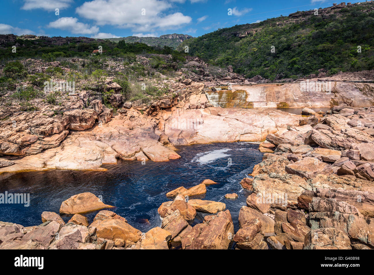 Paraguacu river, Chapada Diamantina, Bahia, Brazil - Stock Image