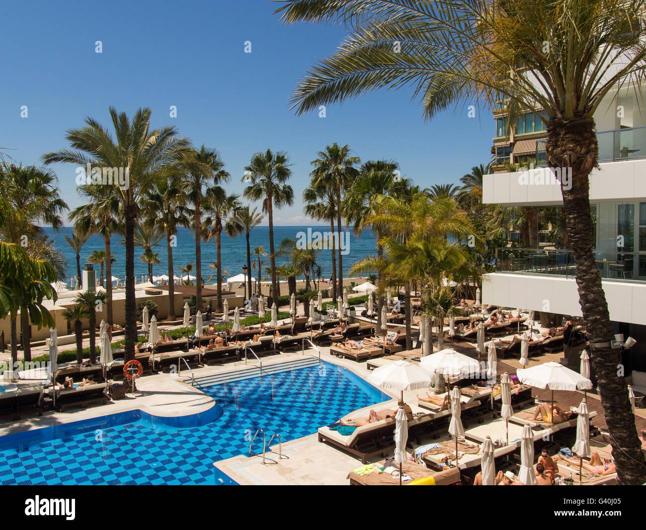 Holiday Hotel Pool Sea Palm Stock Photos Amp Holiday Hotel
