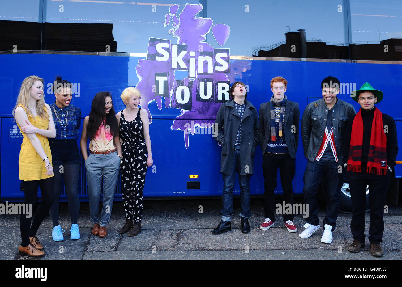 New Skins Cast - London - Stock Image