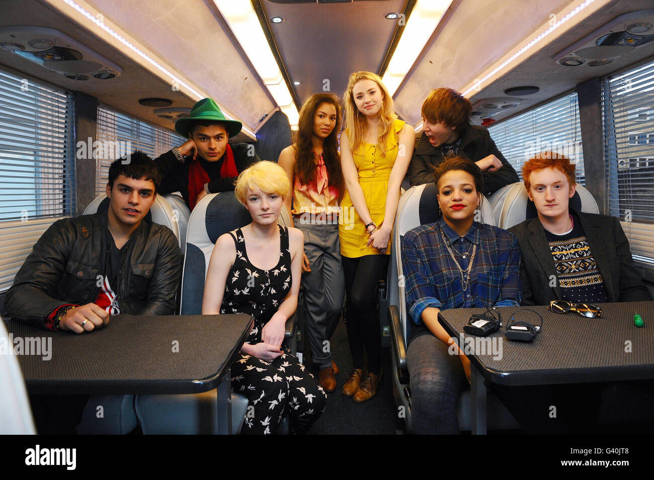 New Skins Cast - London Stock Photo