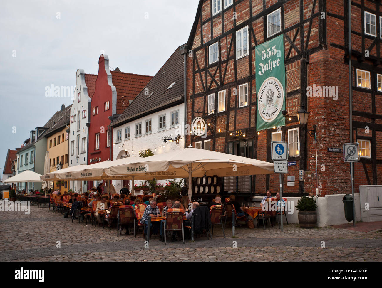 Brewhouse am Lohberg, restaurant, Wismar, Mecklenburg-Western Pomerania - Stock Image