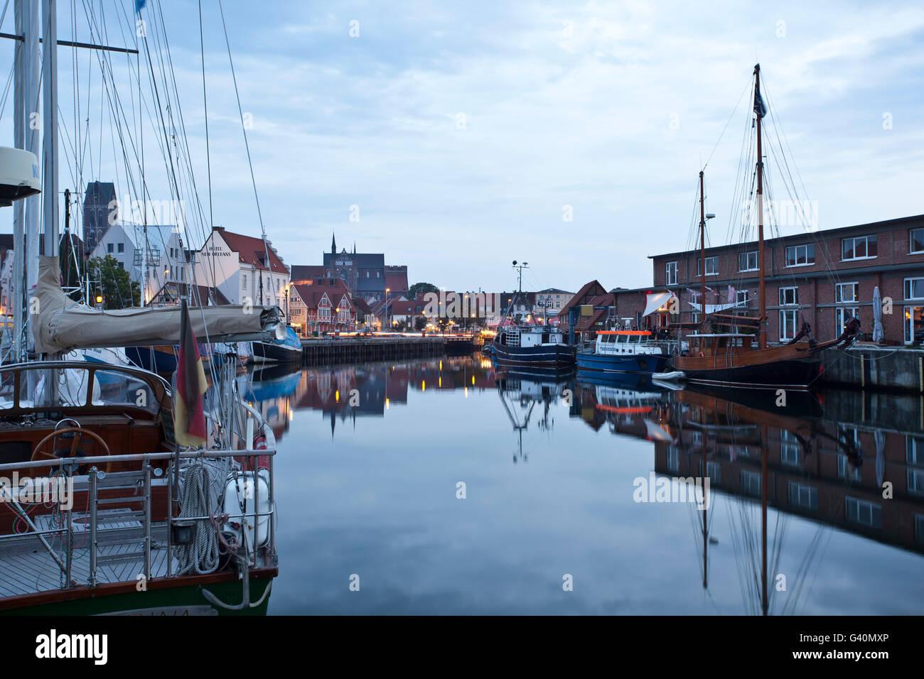Old port, Wismar, Mecklenburg-Western Pomerania - Stock Image