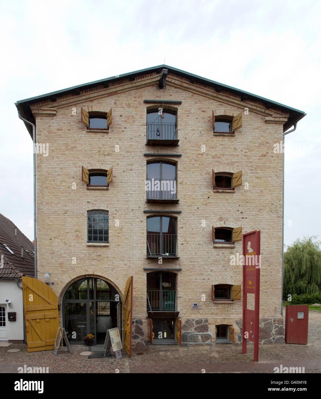 Uwe Johnson literature house, Kluetz, Mecklenburg-Western Pomerania - Stock Image
