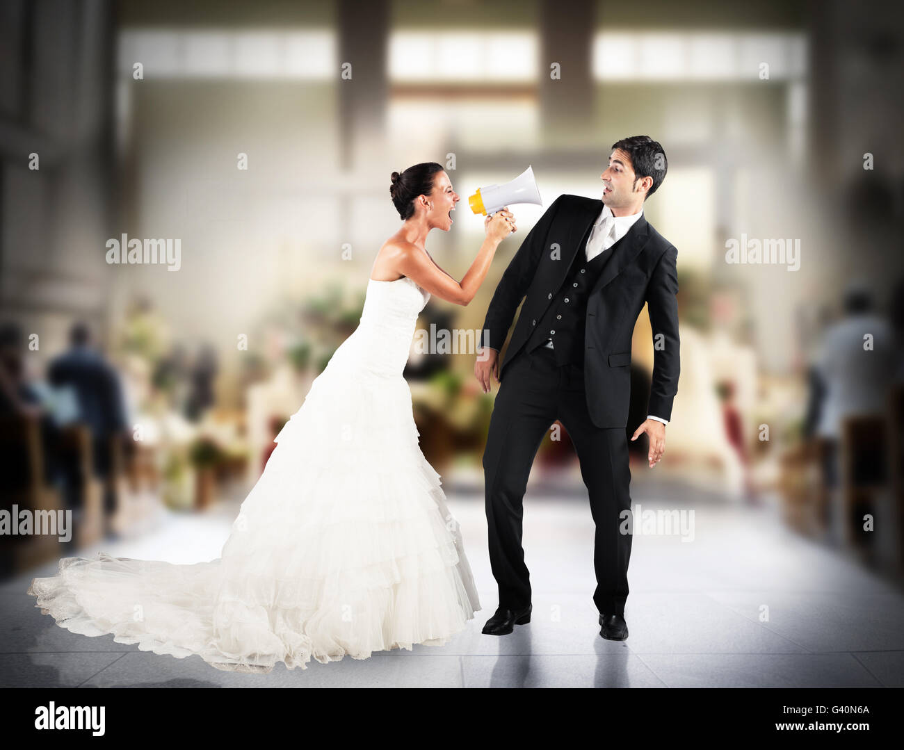 Dispute between spouses - Stock Image
