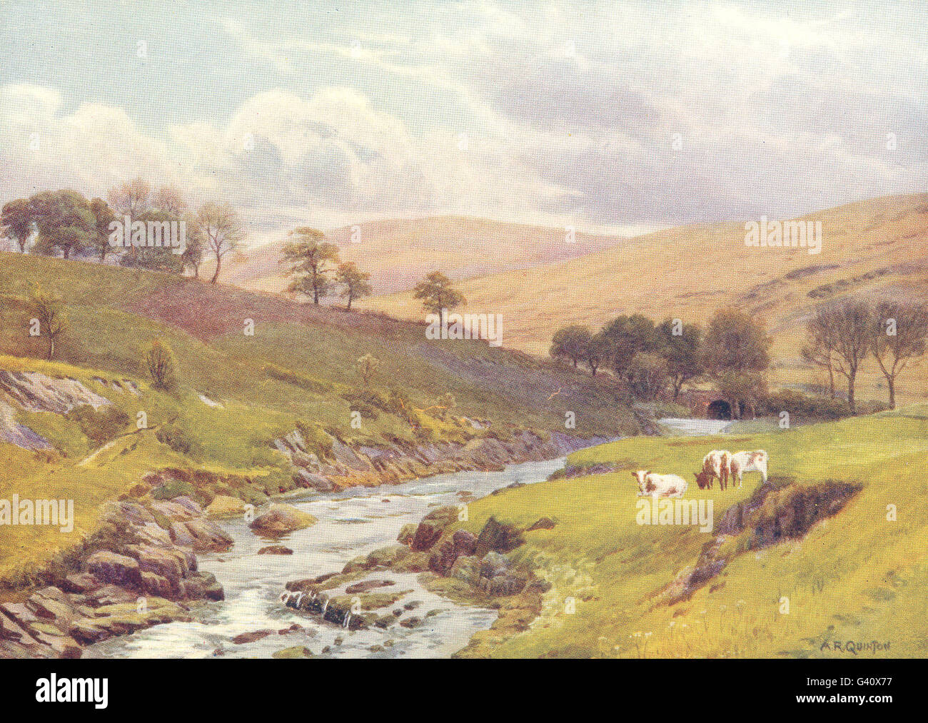 WALES: Bout-ryth-Galed, upper Wye, antique print 1911 - Stock Image