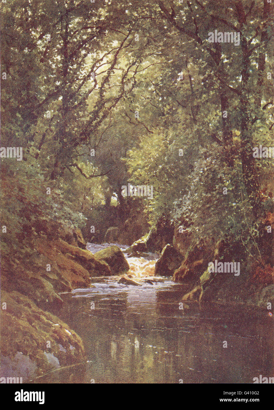 DEVON: The Erme, Ivy bridge, Devon, antique print 1908 - Stock Image