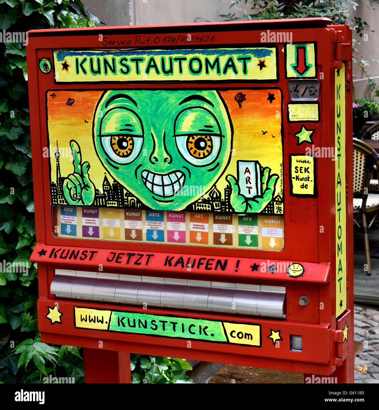 Kunstautomat Art Machine dispenser automate automatic area Scheunenviertel Berlin Germany - Stock Image